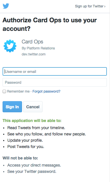 Mobile sign in flow — Twitter Developers
