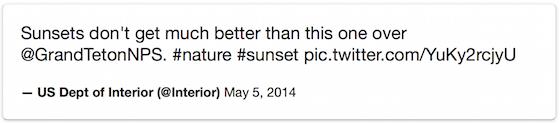 Embedded Tweet fallback markup rendered using custom CSS rules