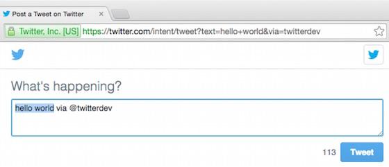 Web Intent — Twitter Developers