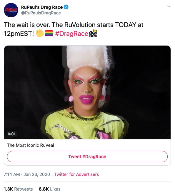 RuPaul's Drag Race Tweet
