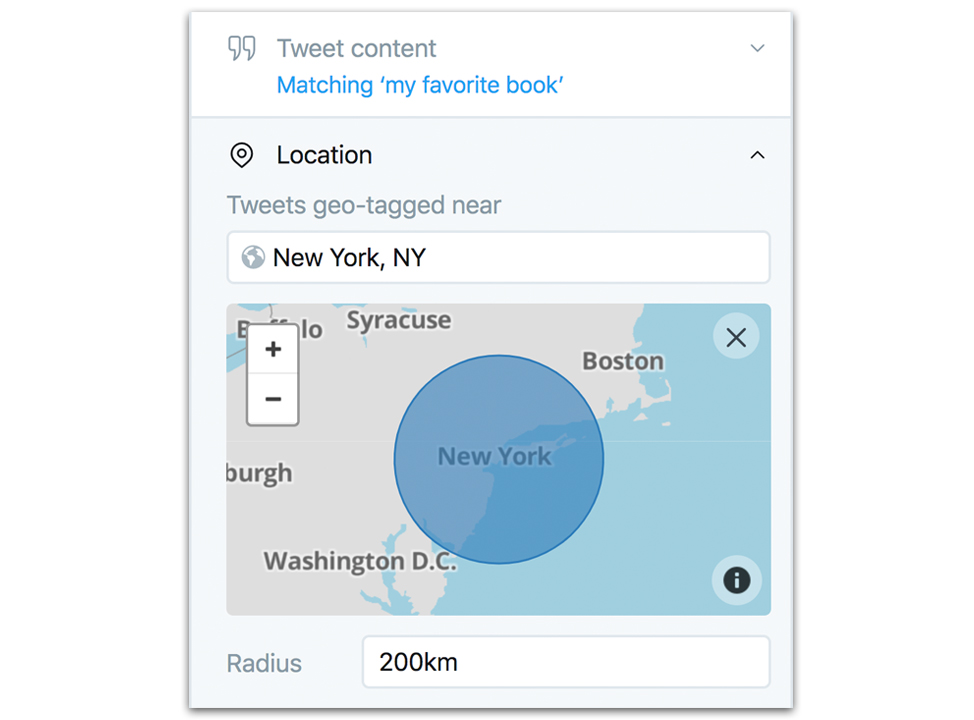Tweetdeck Geographic Search