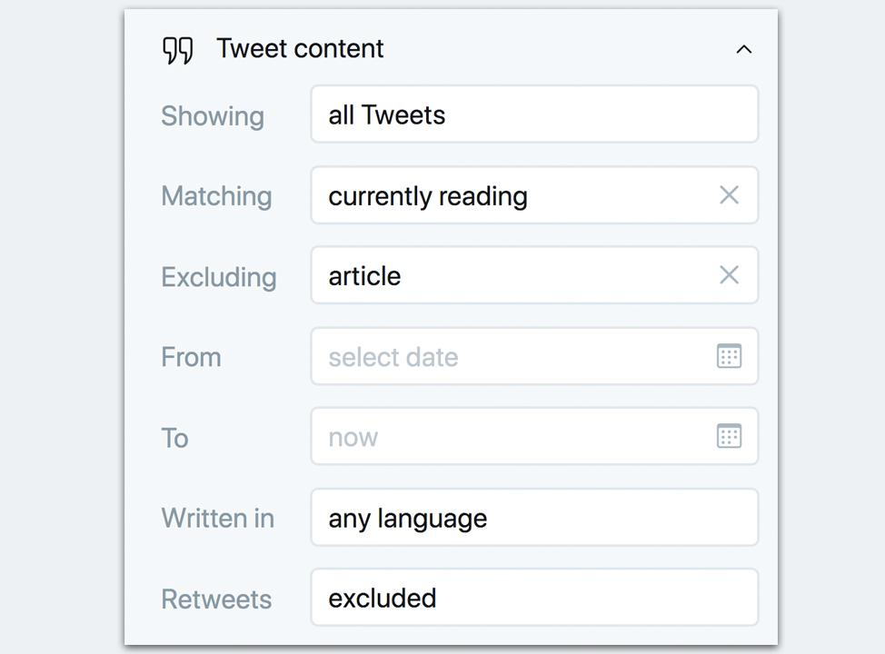 Tweetdeck Filters