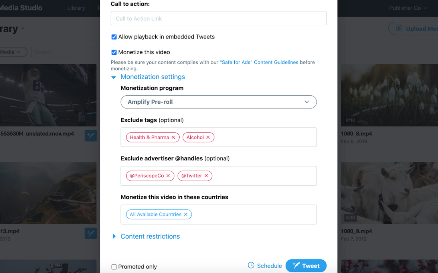 "5. Use the ""Exclude tags"" and ""Exclude advertiser @handles"" fields to block ad categories and specific advertisers from being paired with your videos."